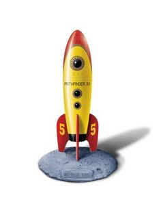 Retro Pocket Rocket Yellow with engines powerful enough to make the Space Shuttle Shake, quiver and quake, Retro Pocket Rockets vibrator will take you to the moon and back for more!