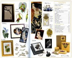 Jill Oxton's Cross Stitch & Bead Weaving Magazine, issue 92 contents page. Issue 92 is available from Australian Needle Arts