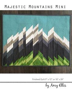 Majestic Mountains Mini Quilt Pattern