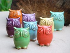 I luv the owls!!!  claylicious: Handmade functional and decorative pottery and owl's. $27.00
