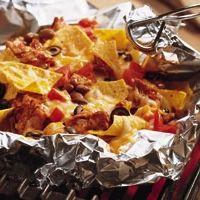 Grilled Barbecued Chicken Nachos Recipe