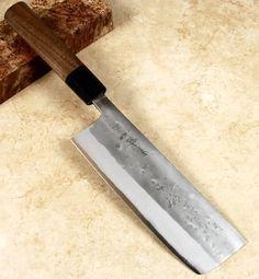 Kohetsu Blue #2 Nashiji Nakiri 165mm Professional Chef, Kitchen Knives, Japanese, Blue, Japanese Language
