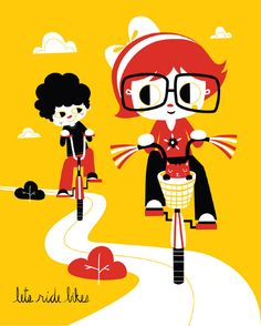 Let's Ride Bikes. Zara on Etsy.