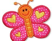Spring BUTTERFLY Applique 4x4 5x7 6x10 Machine Embroidery Design  INSTANT Download