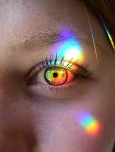 New Eye Photography Inspiration Pictures Ideas Rainbow Eyes, Rainbow Light, Rainbow Prism, Rainbow Baby, Photo Oeil, Rainbow Aesthetic, Aesthetic Eyes, Gay Aesthetic, Witch Aesthetic