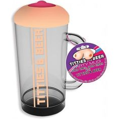 Titties & Beer Boobie Party Mug Titties and Beer Boobie Beer glass is the perfect party mug. Good times, good cheer with titties and beer. With the boobie shaped top, sip with lid on through nipple hole or lid off. Craft Beer Gifts, Gag Gifts, Plastic Mugs, Bachelorette Party Favors, Party Cups, Best Vibrators, Beer Label, Best Beer, Perfect Party
