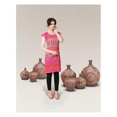 Viva N Diva Pink Color Digital Printed Cotton Kurti http://goo.gl/aEtO87