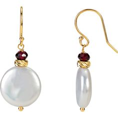 Weight: 0.64 g Length: 33 mm Gem Size: 4 mm Metal Type: Gold Metal Purity: 14K Metal Color Yellow Pearl Size: 14 mm Surface Finish: Polish