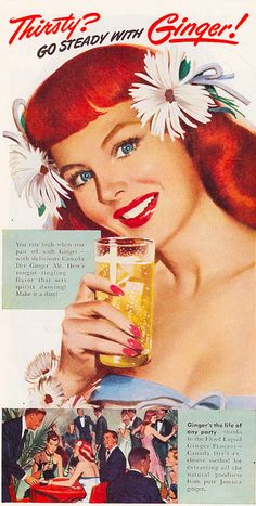 Go Steady with Ginger Canada Dry Ginger Ale