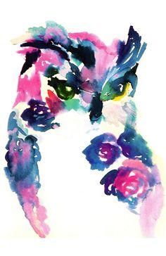 Pink Owl by Jessica Buhman