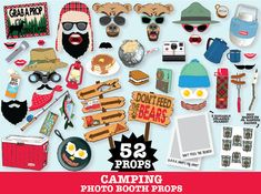BOGO Sale  Camping Photo Booth Props  Camping by SimplyEverydayMe