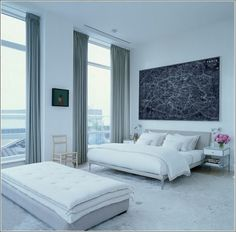 interior design, cleanses, elle decor, color schemes, high ceilings, white bedrooms, bed linens, modern bedrooms, jill stuart