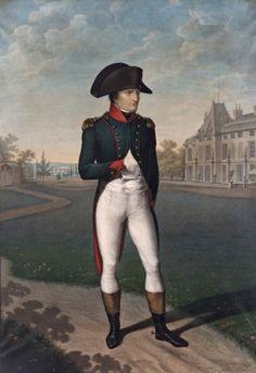 Jean-Baptiste Isabey: Napoleon Bonaparte, First Consul, in the gardens of Malmaison, 1804.