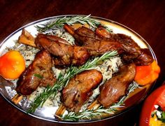 Roasted Lamb Shanks on a bed of rice pilaf
