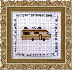 """Cross Stitch This is my Private Domicile 