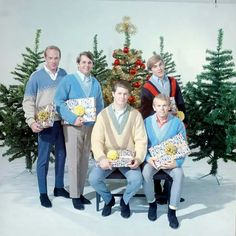 briandouglaswilson: - December - Brian and the boys under the tree [The Brians of Christmas] ""