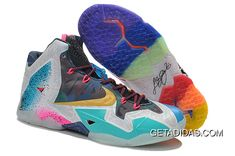 e3c356fa084d4 Lebron 11 Shoes Gold Green Pink White Black TopDeals