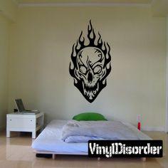 Skull Wall Decal - Vinyl Decal - Car Decal - DC 8105
