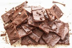 Crispy, crunchy, wafer thin brownies, for snacking or dessert - gluten free and traditional recipes by Barefeet In The Kitchen