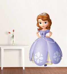 SOFIA THE FIRST Disney Decal Removable WALL STICKER Home Decor Art Kids Princess