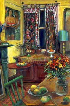 "Margaret Olley ""The front room, Duxford Street"" 1995 Australian Painters, Australian Artists, Popular Art, Beautiful Paintings, Monet, Great Artists, Painting Inspiration, Home Art, Modern Art"