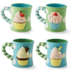 Cupcake Mug by Mud Pie mygiftpie.com $34.95 set of 4