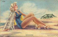Curt Teich PinUp Postcard