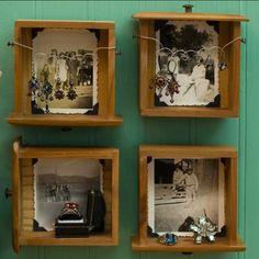 Repurpose old drawers.