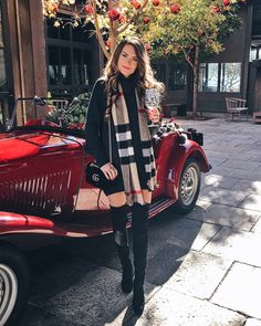 New post on faidingrainbow Holiday Fashion, Holiday Outfits, Fall Winter Outfits, Autumn Winter Fashion, Fall Fashion, Autumn Style, Holiday Style, Wine Tasting Outfit, Over The Knee Boot Outfit