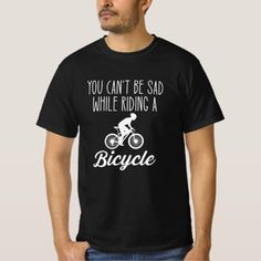 You Cant Be Sad Riding A Bicycle T-Shirt   biker illustration, biker shop, biker ideas #superbikelove #bikerofinstagram #bikerlife, 4th of july party Motorcycle Tips, Motorcycle Quotes, Tips Fitness, Fitness Models, Biker Shop, Biker Fashion, Biker Tattoos, Cycling Tips, Lady Biker