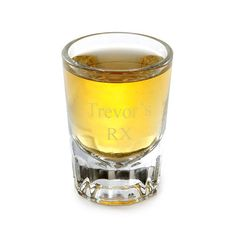 RX Monogrammed Shot Glass - need my meds!