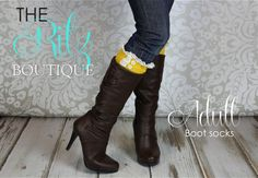 Adult boot socks  ruffle lace button boot socks by TheRitzBoutique, $17.99