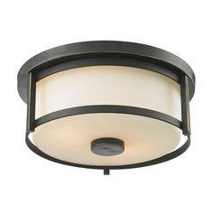 Z-lite Lacy 2-Light Olde Bronze Flushmount-CLI-JB-036572 - The Home Depot