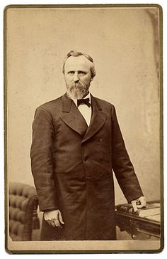 Portrait of future President Rutherford B. Hayes, circa 1876, about the time he was running for President.