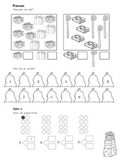 Juf Shanna: Rekenwerkbladen gr 3 - Sinterklaas