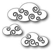[1287] DIES- Twirly Clouds, #poppy, #poppystamps, #die, #craft, #cloud