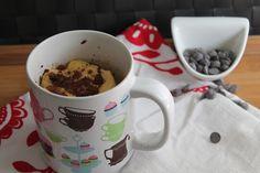 Mug Cake de vainilla y pepitas de chocolate | TentacionDulce