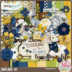 Designer Spotlight & Daily Download 11/28/16 - Gotta Pixel Digital Scrapbooking Store :: Carpe Diem Kit by Neia Scraps