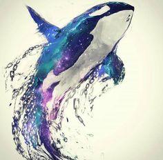 Diamond Painting Orca Water Color Kit - Diamond Painting Orca Water Color Kit Offered by Bonanza Marketplace. Orca Tattoo, Whale Tattoos, Tattoo Animal, Animal Paintings, Animal Drawings, Art Drawings, Killer Whale Tattoo, Killer Whales, Orca Art