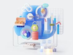 Graph Design, 3d Design, Icon Design, Monument Valley Game, Motion Graphs, Graphic Illustration, Character Illustration, Illustrations, Cloud Icon