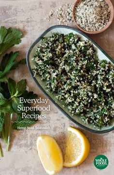 Everyday Superfood Recipes | Hemp Seed Tabbouleh | Healthy, quick, simple, delicious recipes including chia seeds, hemp seeds, nori, salmon, beets, quinoa and more!