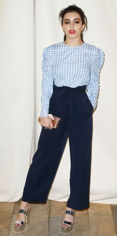 Look of the Day - Charlie XcX from InStyle.com in paperbag waist
