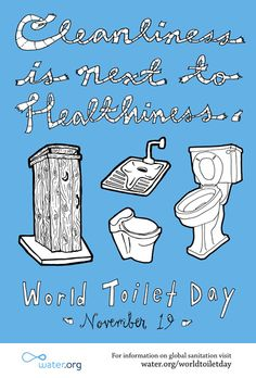 More than 40 per cent of the world population don't have access to a hygienic toilet. That's more that 2.6 Billion people world wide that don't have access to something that the rest of us take for granted. On November 19th the importance of sanitation and good hygiene is celebrated with the tenth anniversary of World Toilet Day, an event set up by The World Toilet Organisation in 2001 to raise awareness for the millions of lives lost due to lack of sanitation.