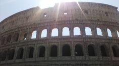 Outside the colluseum