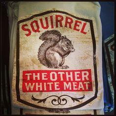 Squirrel - good enough to eat : )