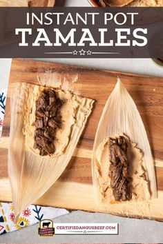 The best beef tamales made in a fraction of the time with an Instant Pot! Follow this step-by-step recipe for an authentic Mexican dish your family will love. #certifiedangusbeef #bestangusbeef #beefrecipe #instantpot #pressurecooker #tamales #appetizer