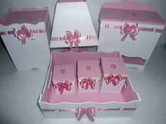 Kit bebê rosa e branco