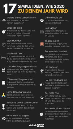 17 ideas to make 2020 your year Get ready now . - 17 ideas how 2020 will be your year and Tricks Prepare yourself now for 2020 and make it your - German Language Learning, School Motivation, Mind Tricks, Blogger Tips, Life Advice, Self Development, Better Life, Self Improvement, Self Care