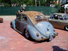 vw split beetle patina