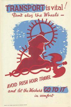 1941 Lester Beall. Transport is Vital! (UK)